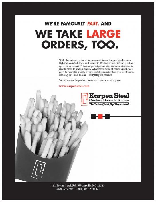 We Take Large Orders, Too